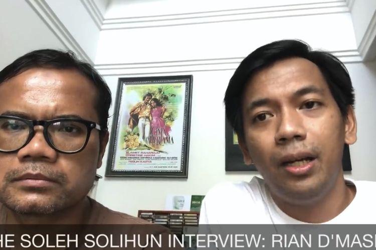 Soleh Solihun dan Rian D'Masiv saat sedang berbincang. (Bidikan layar YouTube Soleh Solihun).