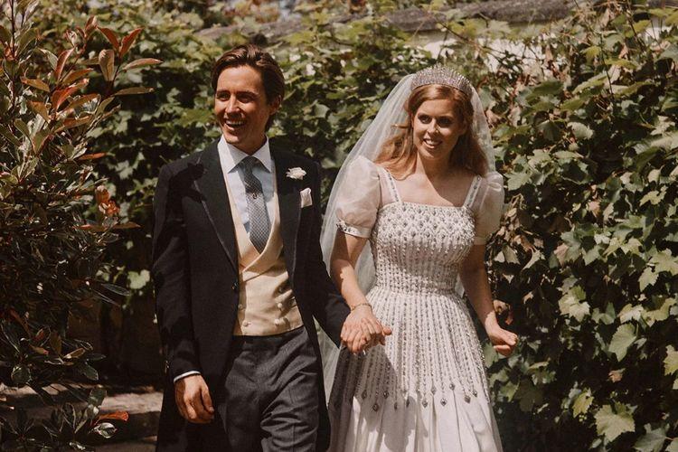 Putri Beatrice dan Edoardo Mapelli Mozzi di hari pernikahan mereka.