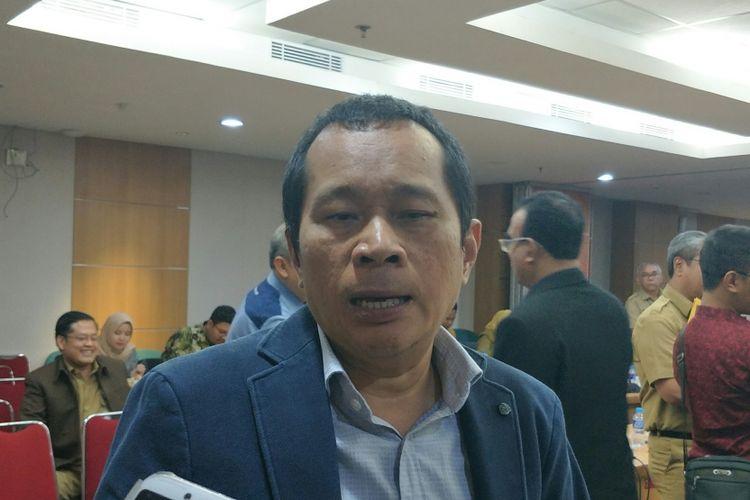Ketua Komisi C DPRD DKI Jakarta Santoso di Gedung DPRD DKI Jakarta, Jalan Kebon Sirih, Jakarta Pusat, Selasa (30/10/2018).
