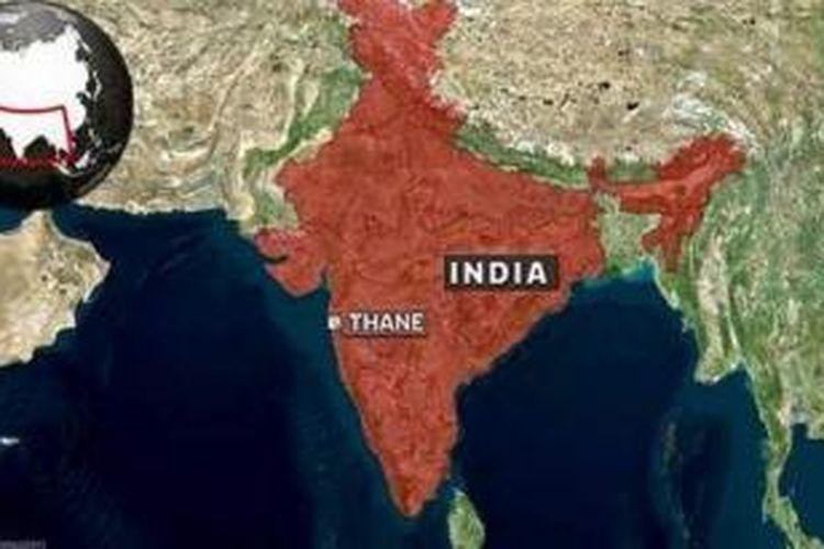 Peta India.