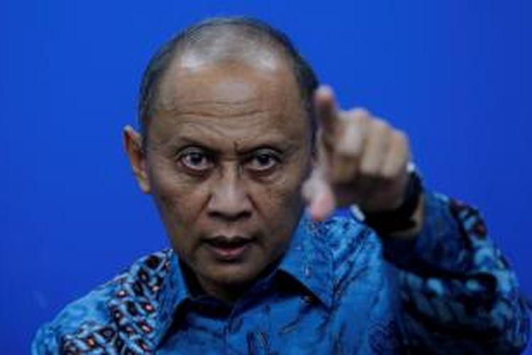 Bakal Calon Presiden Partai Demokrat, Pramono Edhie Wibowo berkunjung ke Kantor Redaksi Kompas.com di Jakarta, Kamis (16/1/2014). Ia memaparkan visi misinya jika terpilih menjadi calon presiden. KOMPAS IMAGES/KRISTIANTO PURNOMO