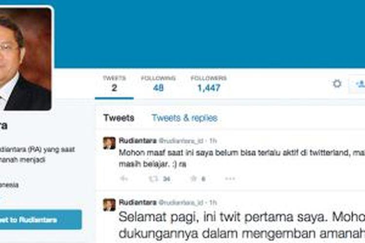 Tampilan profil akun Twitter @rudiantara_id