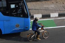 Jalur Khusus Sepeda Dorong Turunkan Polusi Udara di Jakarta