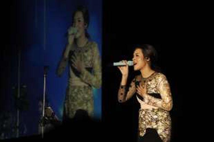 Vokalis Raisa Andriana tampil di Java Jazz Festival 2016 di JIExpo, Kemayoran, Jakarta Pusat, Jumat (4/3/2016) malam.