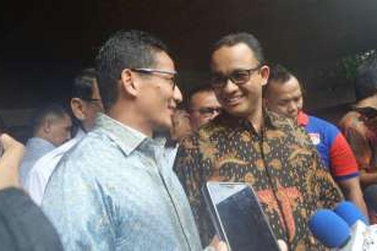 Bakal Cagub dan Cawagun DKI Anies Baswedan dan Sandiaga Uno.