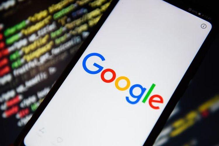 Ilustrasi Google di ponsel