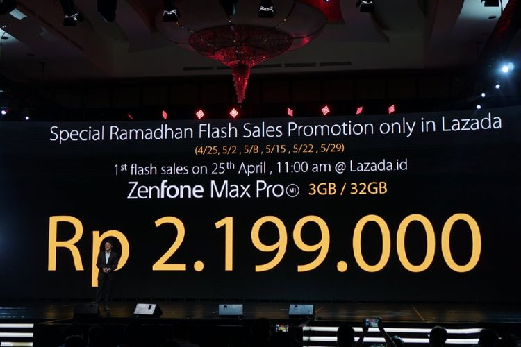 Asus membanderol smartphone terbarunya Zenfone Max Pro M1 dengan harga mulai Rp 2,2 juta.