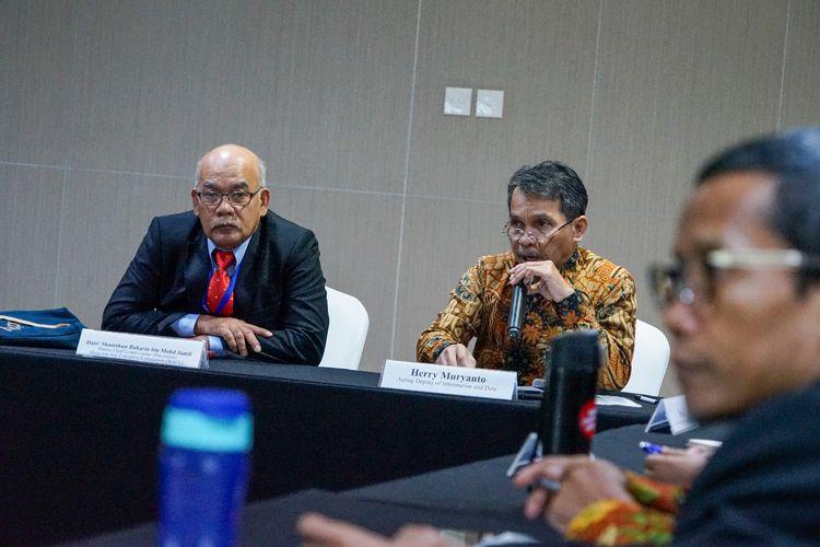 Suasana pertemuan antara KPK dan delegasi Malaysian Anti-Corruption Commission (MACC) dan Malaysian Administrative Modernisation and Management Planning Unit (MAMPU) di Gedung Merah Putih KPK, Selasa (25/2/2020).