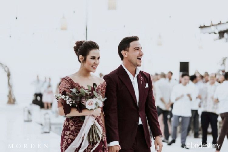 Raisa Andriana dan Hamish Daud menggelar resepsi pernikahan di Bali, Sabtu (9/9/2017).