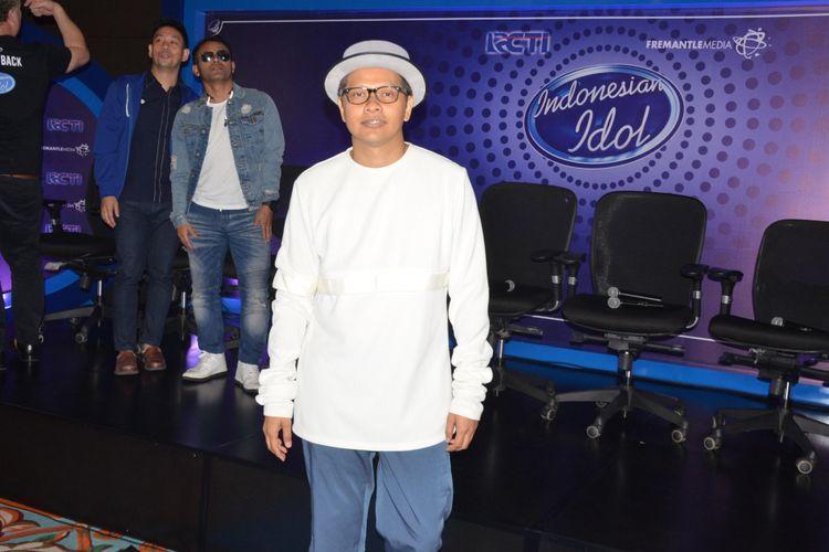 Armand Maulana diumumkan menjadi juri Indonesian Idol 2017 atau musim kesembilan di MNC Tower I, Kebon Jeruk, Jakarta Barat, Senin (9/10/2017).