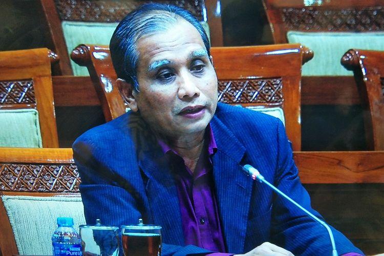 Calon pimpinan Komisi Pemberantasan Korupsi (capim KPK) Roby Arya Brata dalam uji kepatutan dan kelayakan di Komisi III DPR, Kompleks Parlemen, Senayan, Jakarta, Kamis (12/9/2019).
