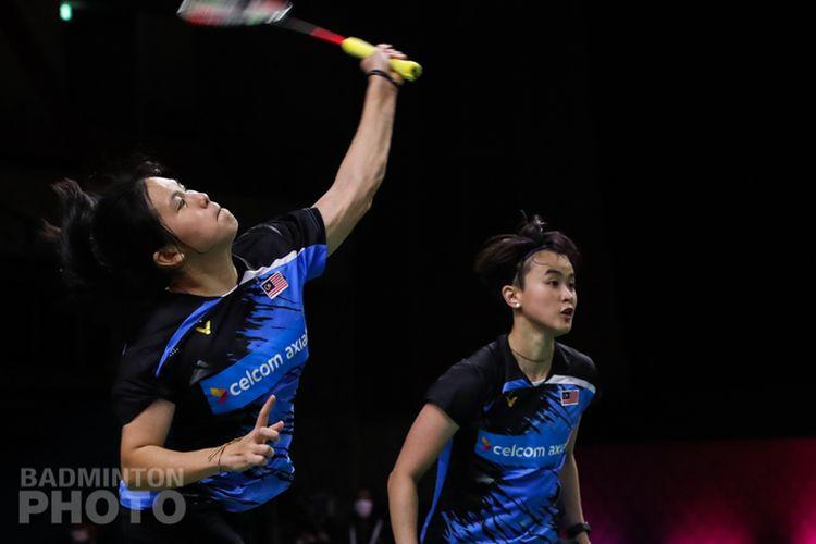 Pasangan ganda putri asal Malaysia, Vivian Hoo/Yap Cheng Wen.