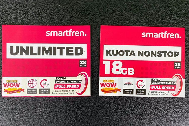 Wajah baru Kartu Perdana Smartfren Unlimited dan Kuota Nonstop dengan Extra Unlimited Malam.