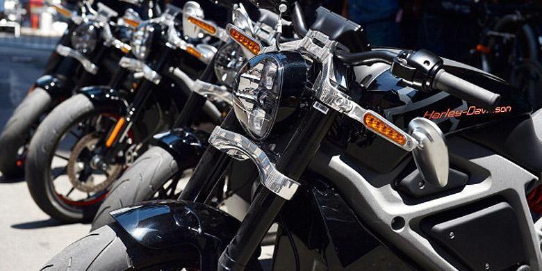Harley-Davidson Livewire berderet sebelum di tes di New York, Amerika Serikat.