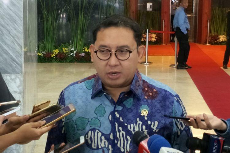 Wakil Ketua Umum Partai Gerindra Fadli Zon saat ditemui di Kompleks Parlemen, Senayan, Jakarta, Senin (17/9/2018).