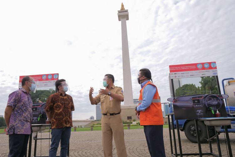 Komunitas Honda donasikan wastafel nirsentuh ke Monas
