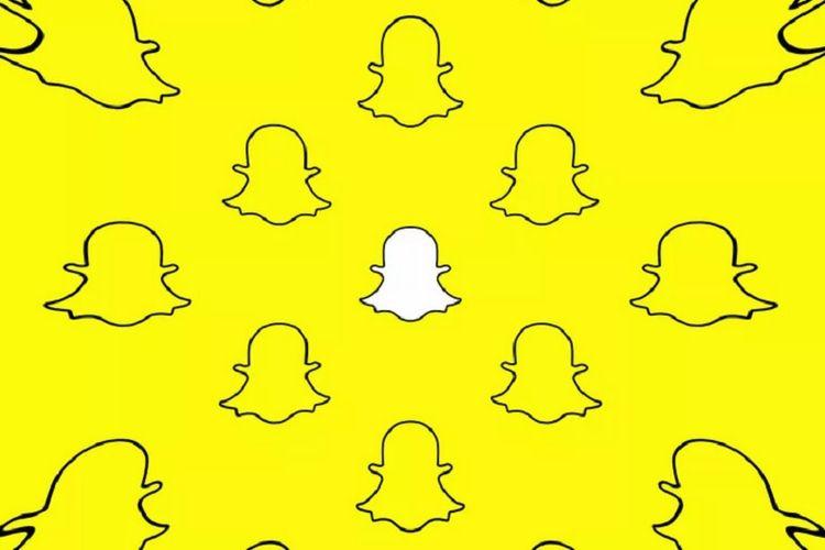 Ilustrasi aplikasi Snapchat