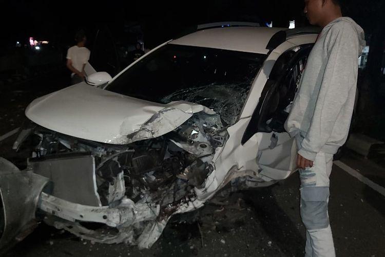Kecelakaan tunggal terjadi di Jalan Prof. Dr. Soepomo, Tebet Barat, Tebet, Jakarta Selatan pada Rabu (26/5/2021) pukul 02.00 WIB.