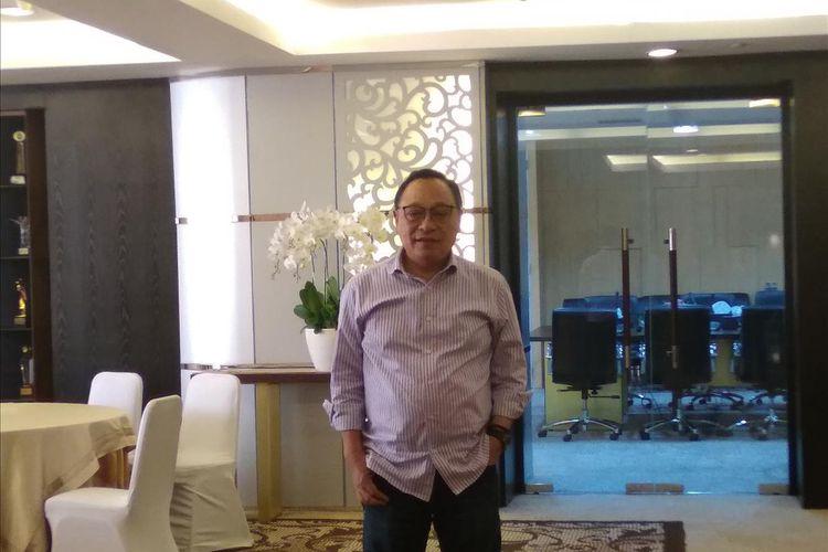 Direktur Utama Bank BTN, Maryono, berpose usai bincang santai bersama media di Jakarta, Jumat (19/7/2019).