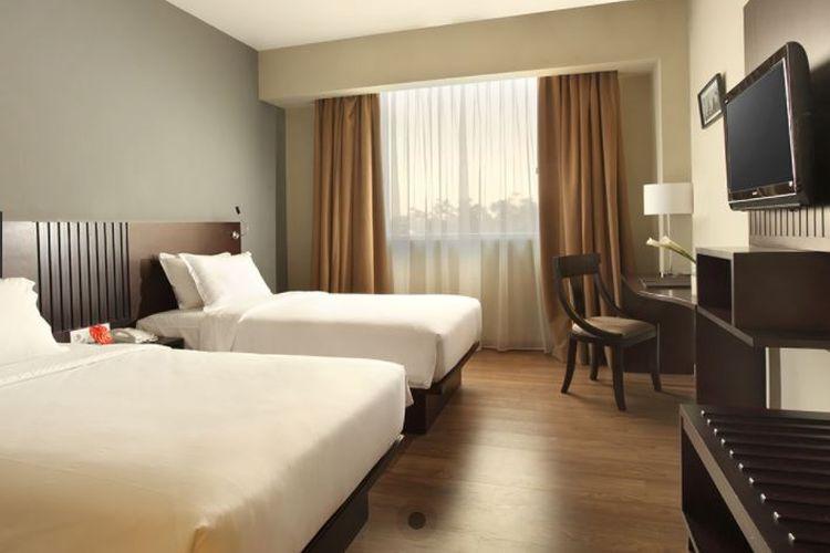 Salah satu kamar di Hotel Santika Taman Mini Indonesia Indah Jakarta (https://www.mysantika.com/).