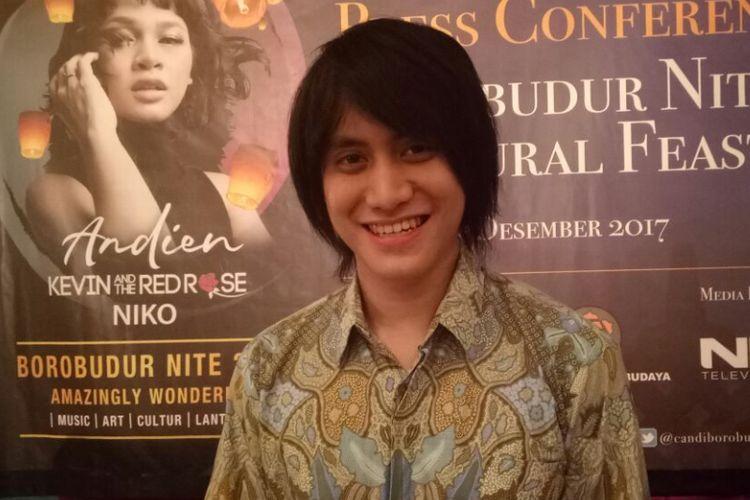 Kevin Aprilio saat ditemui pada jumpa pers Borobudur Nite & Cultural Feast 2017 di kawasan Sarinah, Jakarta Pusat, Kamis (7/12/2017).