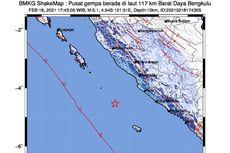 Ahli: Gempa Bengkulu Kemarin Sore Masih Menyimpan Misteri