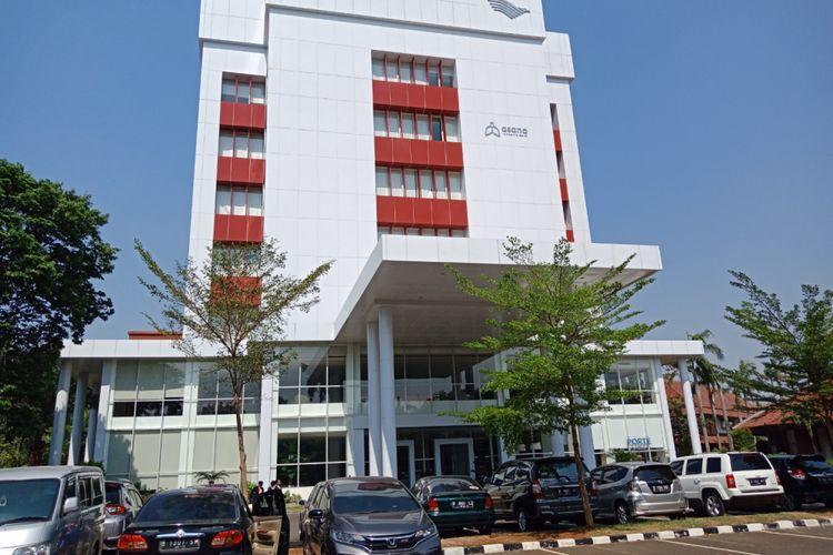 Kantor pusat Garuda Indonesia Training Centre, Duri, Jakarta Barat, Senin (10/9/2018).