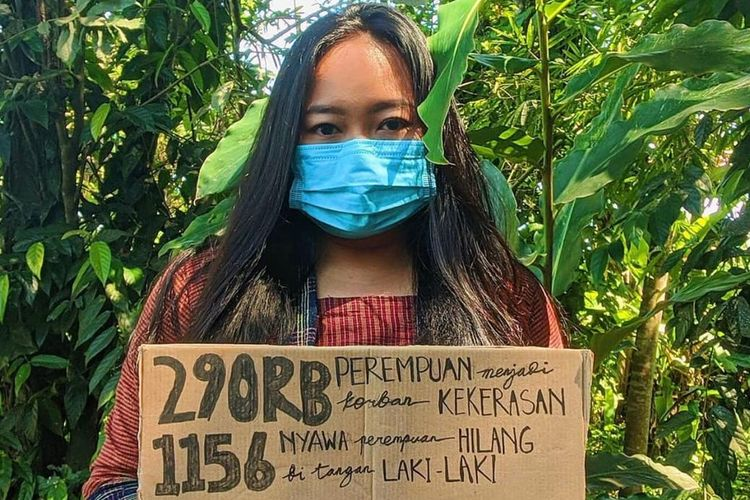 Anindya Vivi, an activist who fights for women's right and equality in Indonesia.