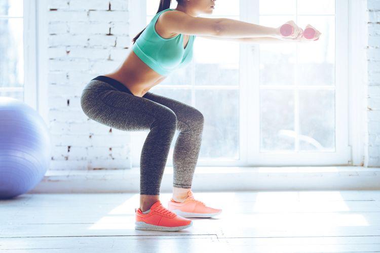 Ilustrasi squat