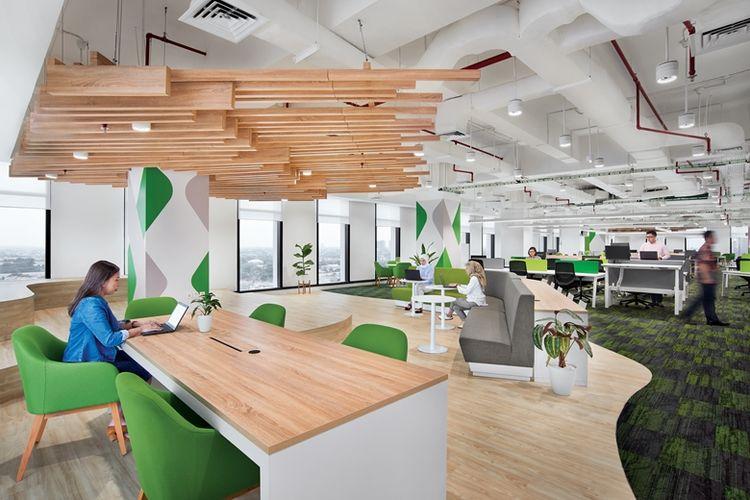 Townhall kantor pintar Schneider Electric di Jakarta.