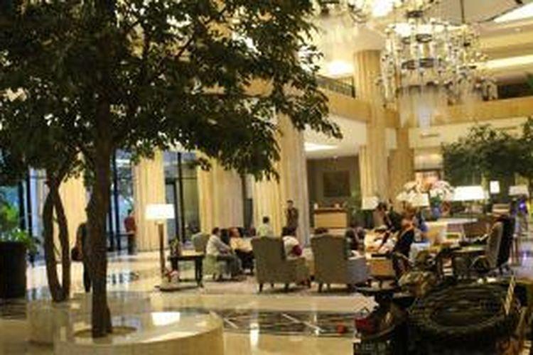 Lobi Hotel Tentrem di Yogyakarta.