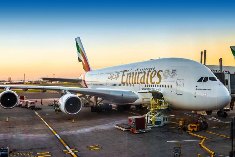 Ilustrasi pesawat milik Emirates.