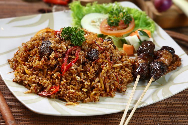 Ilustrasi nasi goreng kambing