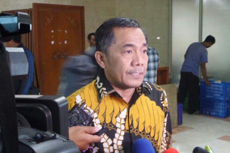 Sekretaris Jenderal Partai Hanura, Sarifuddin Sudding di Kompleks Parlemen, Senayan, Jakarta, Senin (10/4/2017).
