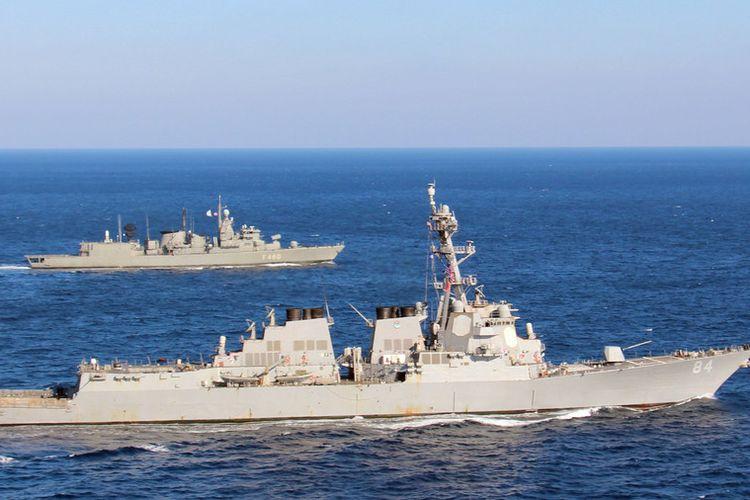 Ilustrasi kapal perang milik Angkatan Laut Amerika Serikat.