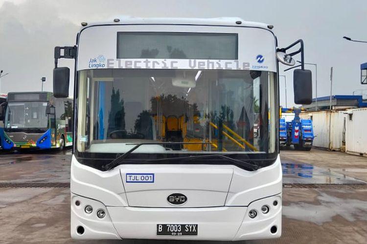 Transjakarta uji coba dua bus BYD