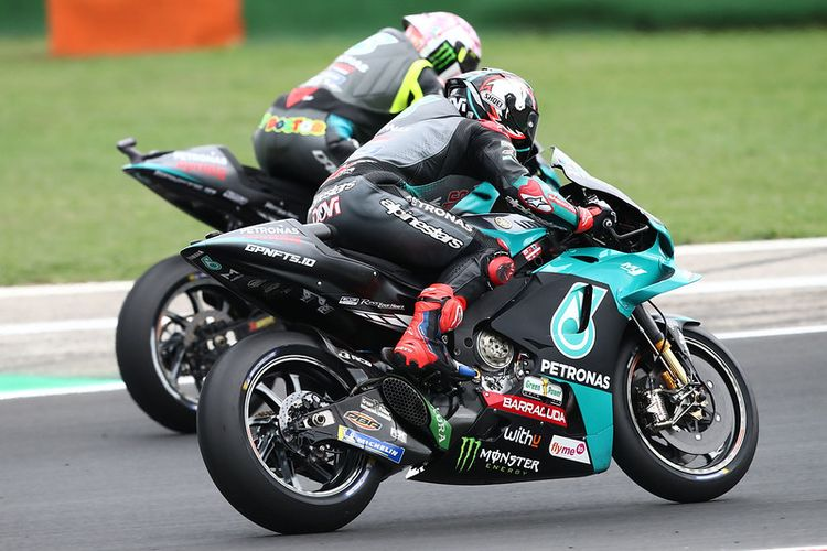 Andrea Dovizioso saat berlaga pada MotoGP San Marino 2021