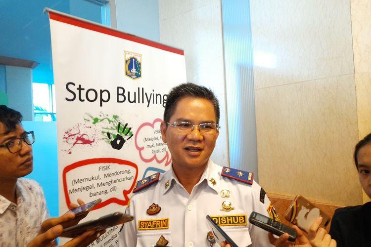 Kepala Dinas Perhubungan DKI Jakarta Syafrin Liputo di Blok G, Balai Kota, Jakarta Pusat, Selasa (19/11/2019)