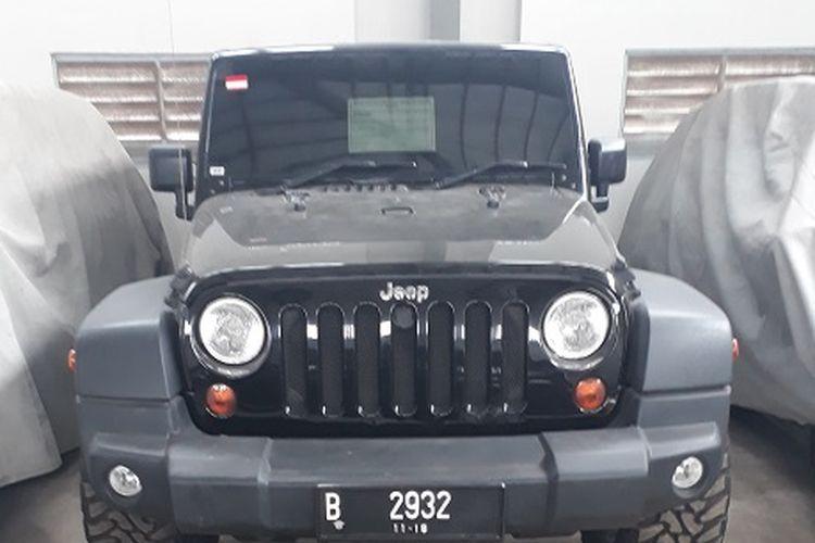 Jeep Wrangler, salah satu mobil hasil sitaan KPK yang akan dilelang pada 19 Februari 2020.