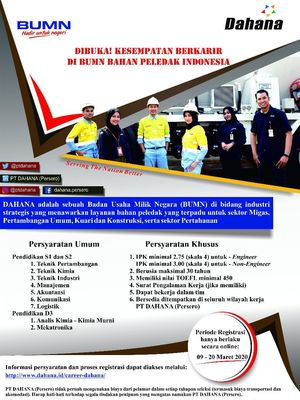 Lowongan kerja PT Dahana