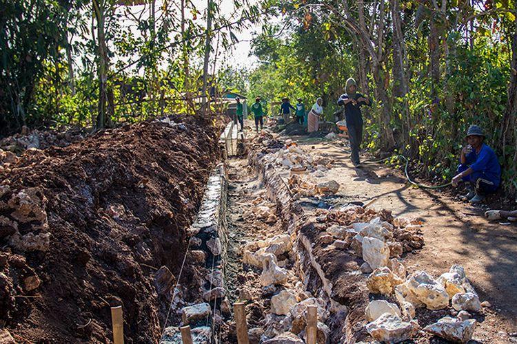 Pembangunan Saluran Drainase di Desa Baleharjo, Gunungkidul