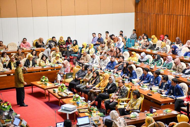 Seminar pendidikan yang digelar Kesatuan Perempuan Partai Golkar (KPPG) di Kompleks DPR RI, Rabu (18/9/2019).