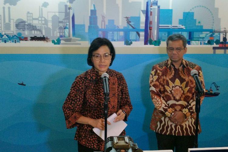 Menteri Keuangan Sri Mulyani di Nusa Dua, Bali, Kamis (6/12/2018)