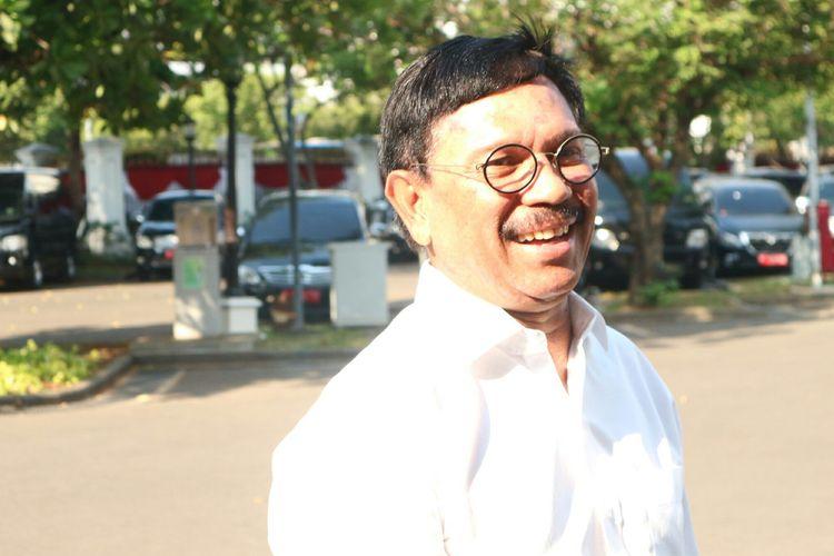 Sekejen Partai Nasdem Johnny G Plate datang ke Istana, Selasa (22/10/2019).