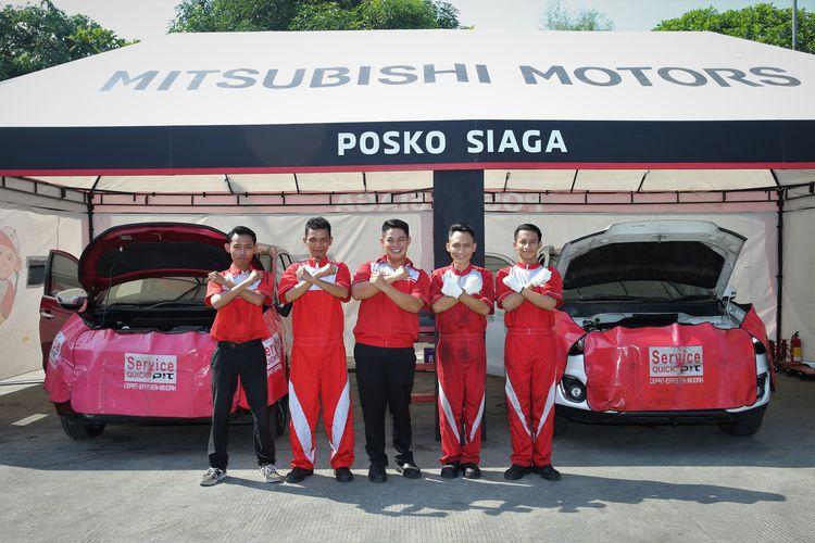 Posko Siaga Mitsubishi yang digelar saat mudik Lebara 2019.