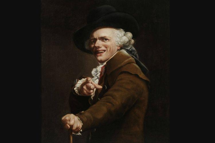 Lukisan potret diri Joseph Ducreux yang dibuat pada 1793.