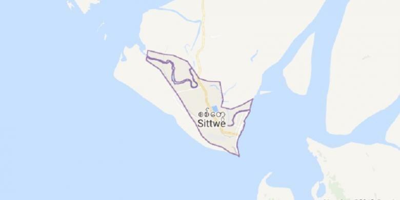 Sittwe, ibu kota negara bagian Rakhine, Myanmar.