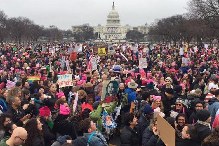 Ratusan ribu demonstran memadati Washington DC dalam demonstrasi