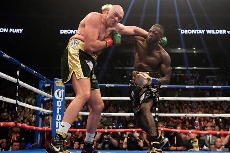 Pertandingan tinju kelas berat antara Tyson Fury dan Deontay Wilder yang dilangsungkan di  MGM Grand Garden Arena, Paradise, Nevada, Amerika Serikat pada 22 Februari 2020.