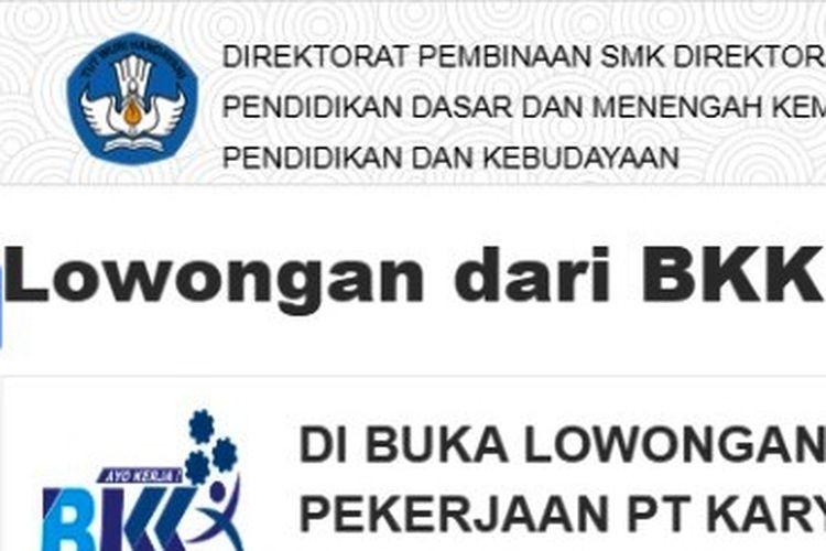 Info lowongan kerja lulusan SMK dari PSMK Kemdikbud RI.